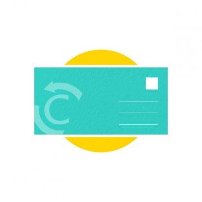 cartolina formato rettangolare stampa parma